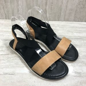 Barney's New York Brown & Black Sandals